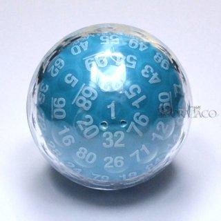 100面ダイス ブルー&ホワイト