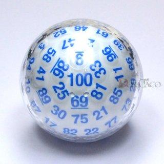 100面ダイス ホワイト&ブルー