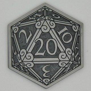 D20サイコロ シルバーコイン【1枚】キャンペーンコイン
