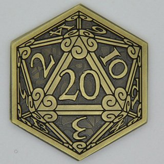 D20サイコロ ゴールドコイン【1枚】キャンペーンコイン