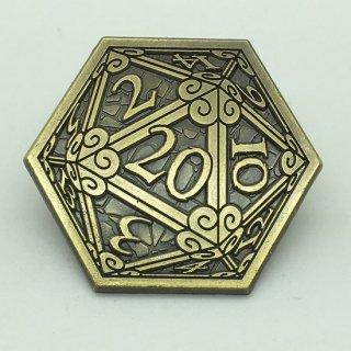 ピンバッジ D20サイコロ ゴールド キャンペーンコイン