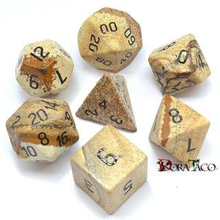 ジャスパー 天然石ハンドメイド 多面体ダイス7個セット