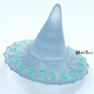 ポリヒーローダイス PolyHeroDice ウィザードダイス 【20面 帽子ダイス エーテリアルアイス&バーニングブルー】
