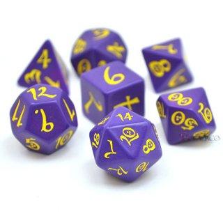 クラシックダイス【パープル&イエロー】Purple & yellow Q-WORKSHOP