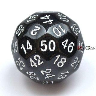 50面ダイス単品 ブラック