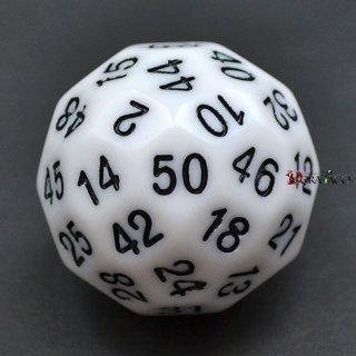50面ダイス単品 ホワイト