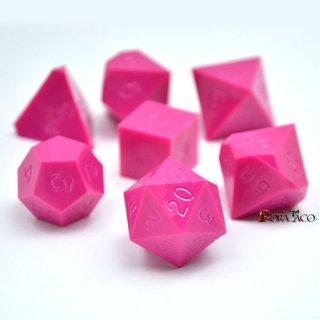 多面体ダイス 7個セット ピンクカラー