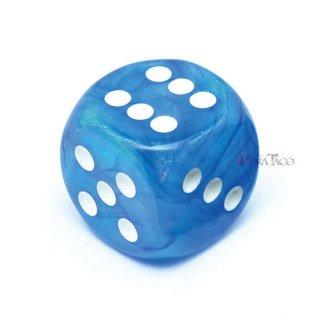 30mm 6面サイコロ(オーロラ/ブルー&ホワイト) チェセックス/Chessex