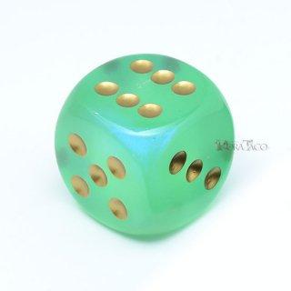 30mm 6面サイコロ(オーロラ/ライトグリーン&ゴールド) チェセックス/Chessex