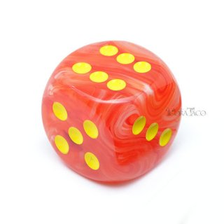 30mm 6面サイコロ(ゴーストグロー/オレンジ&イエロー) チェセックス/Chessex