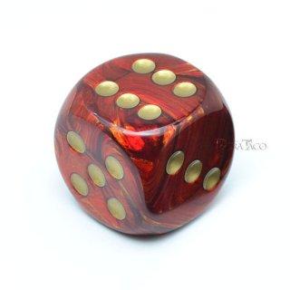 30mm 6面サイコロ(スカラブ/スカーレット&ゴールド) チェセックス/Chessex