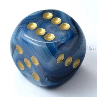 30mm 6面サイコロ(ファントム/テール&ゴールド) チェセックス/Chessex