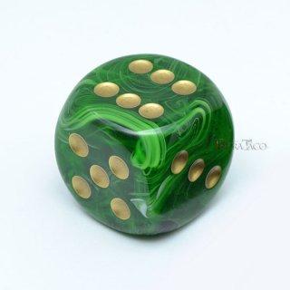 30mm 6面サイコロ(ボルテックス/グリーン&ゴールド) チェセックス/Chessex