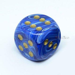 30mm 6面サイコロ(ボルテックス/ブルー&ゴールド) チェセックス/Chessex