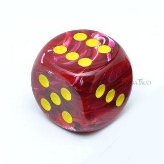 30mm 6面サイコロ(ボルテックス/レッド&イエロー) チェセックス/Chessex