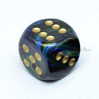 30mm 6面サイコロ(ラストラス/シャドウ&ゴールド) チェセックス/Chessex