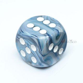 30mm 6面サイコロ(ラストラス/スレート&ホワイト) チェセックス/Chessex