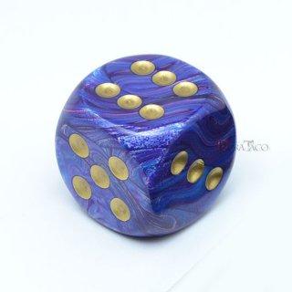 30mm 6面サイコロ(ラストラス/パープル&ゴールド) チェセックス/Chessex
