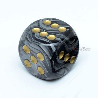 30mm 6面サイコロ(ラストラス/ブラック&ゴールド) チェセックス/Chessex