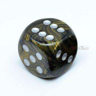 30mm 6面サイコロ(リーフ/ブラックゴールド&シルバー) チェセックス/Chessex