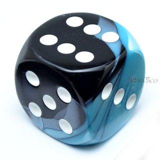 50mm 6面サイコロ(ジェミニ/ブラックシェル&ホワイト) チェセックス/Chessex