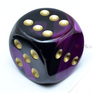 50mm 6面サイコロ(ジェミニ/ブラックパープル&ゴールド) チェセックス/Chessex