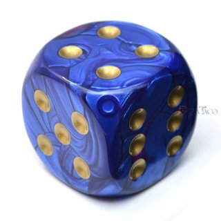50mm 6面サイコロ(ジェミニ/ブルーパープル&ゴールド) チェセックス/Chessex