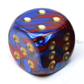 50mm 6面サイコロ(ジェミニ/ブルーレッド&ゴールド) チェセックス/Chessex
