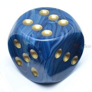 50mm 6面サイコロ(ファントム/テール&ゴールド) チェセックス/Chessex