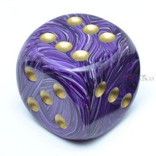 50mm 6面サイコロ(ボルテックス/パープル&ゴールド) チェセックス/Chessex