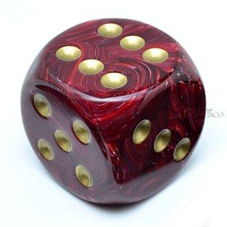 50mm 6面サイコロ(ボルテックス/ブルガンディ&ゴールド) チェセックス/Chessex