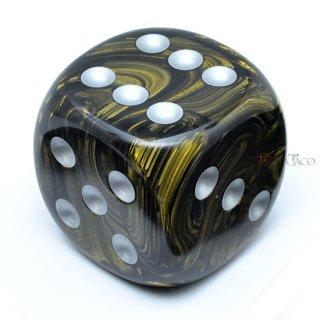 50mm 6面サイコロ(リーフ/ブラックゴールド&シルバー) チェセックス/Chessex