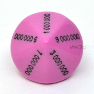 0000000〜9000000の10面サイコロ単品 ピンク
