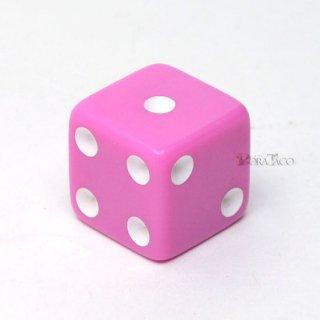 パステルサイコロ 16mm単品 ピンク