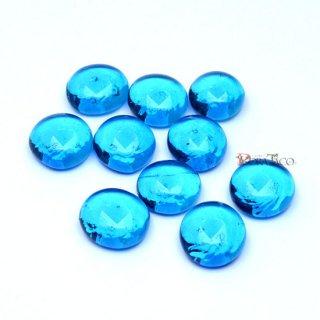 透明ガラストークン10〜30個セット ブルー(約16mm)