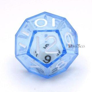 ダブルダイス 12面単品 ブルー