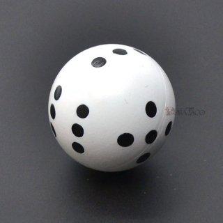 丸い6面サイコロ 22mm単品 ホワイト