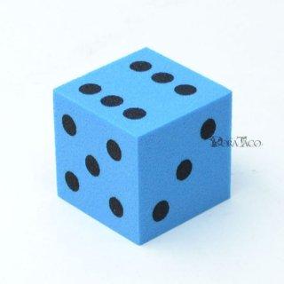 やわらかサイコロ 25mm単品 ブルー