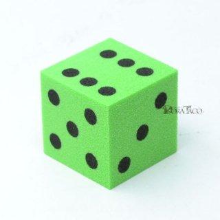 やわらかサイコロ 25mm単品 グリーン