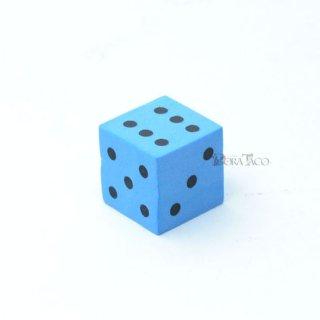 やわらかサイコロ 16mm単品 ブルー