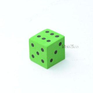 やわらかサイコロ 16mm単品 グリーン