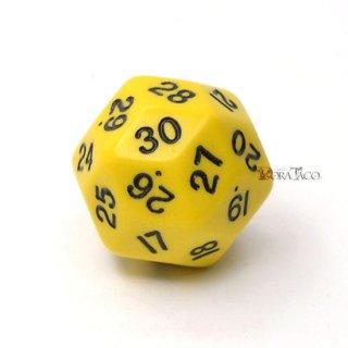 30面サイコロ単品 イエロー