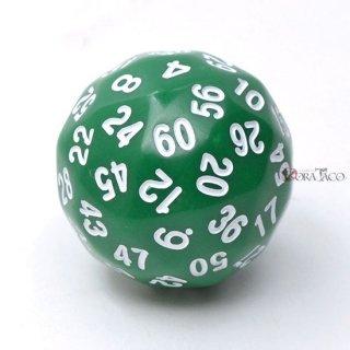 60面サイコロ単品 グリーン
