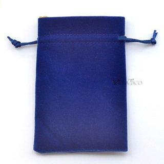 ベルベットダイスバッグ【ブルー&ゴールド】