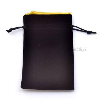 ベルベットダイスバッグ【ブラック&ゴールド】