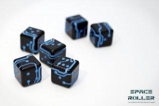 1個〜6個◆スペースローラーダイス MK2【ブルー/ブラック】6個入り1セット SpaceRollerDice MK2