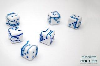 1個〜6個◆スペースローラーダイス MK2【ブルー/ホワイト】6個入り1セット SpaceRollerDice MK2