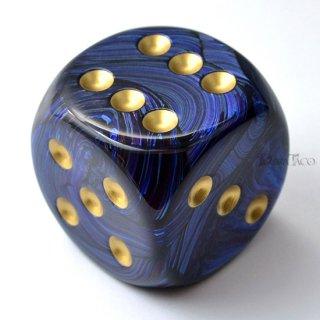 50mm 6面サイコロ(スカラブ/ロイヤルブルー&ゴールド) チェセックス/Chessex