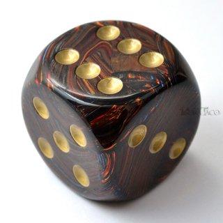50mm 6面サイコロ(スカラブ/ブルーブラッド&ゴールド) チェセックス/Chessex