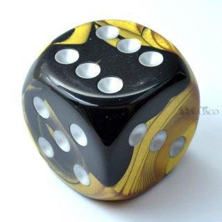 50mm 6面サイコロ(ジェミニ/ブラックゴールド&シルバー) チェセックス/Chessex